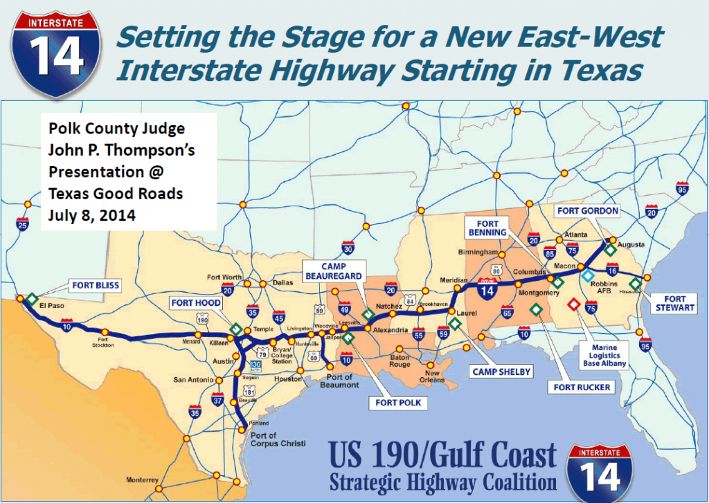 Interstate 14 - Interstate-Guide - Brady Texas Map