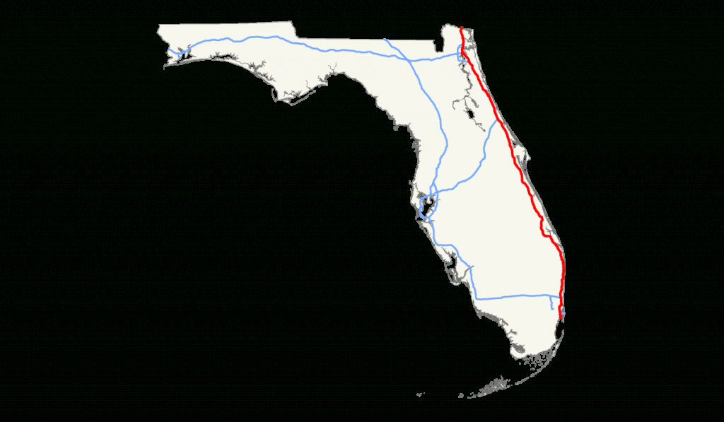 Interstate 95 En Floride — Wikipédia - Map Of I 95 From Florida To New York