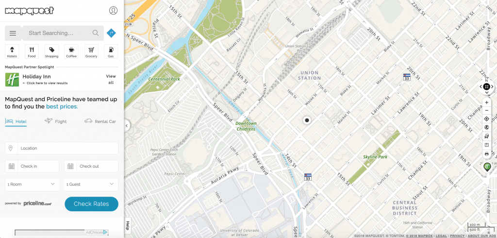 Introducing Single Search – Mapquest | Help - Mapquest California Map
