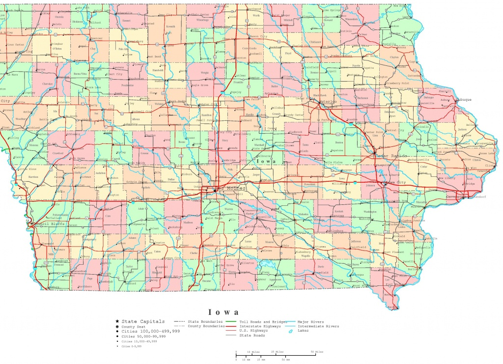 Iowa Printable Map - Printable County Maps