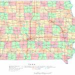 Iowa Printable Map   Printable Map Of Des Moines Iowa