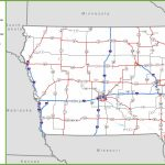 Iowa Road Map - Printable Map Of Iowa