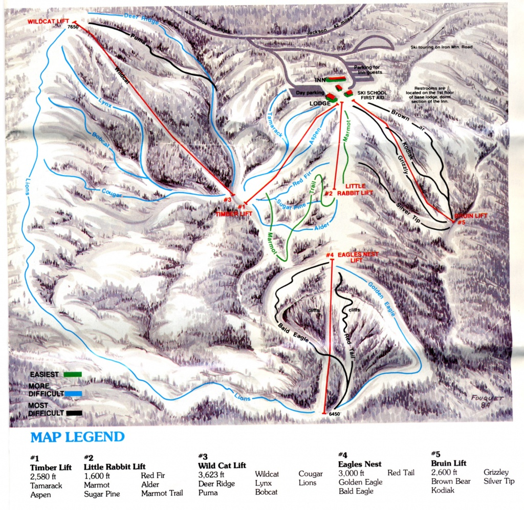 Iron Mountain - Skimap - Southern California Ski Resorts Map