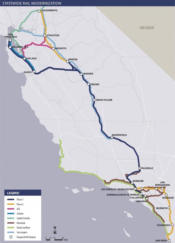 Is California High-Speed Rail Still Happening? - Curbed - California Bullet Train Map