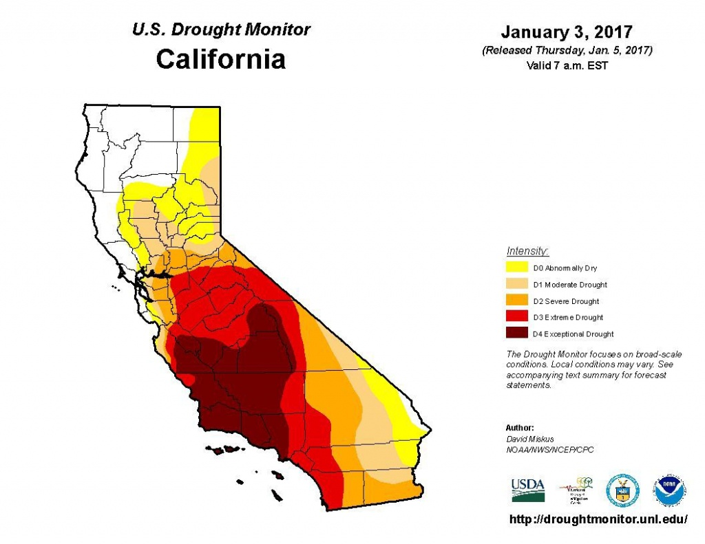 Is The Drought Over? | Sean Scully | Napavalleyregister - California Drought Map 2017
