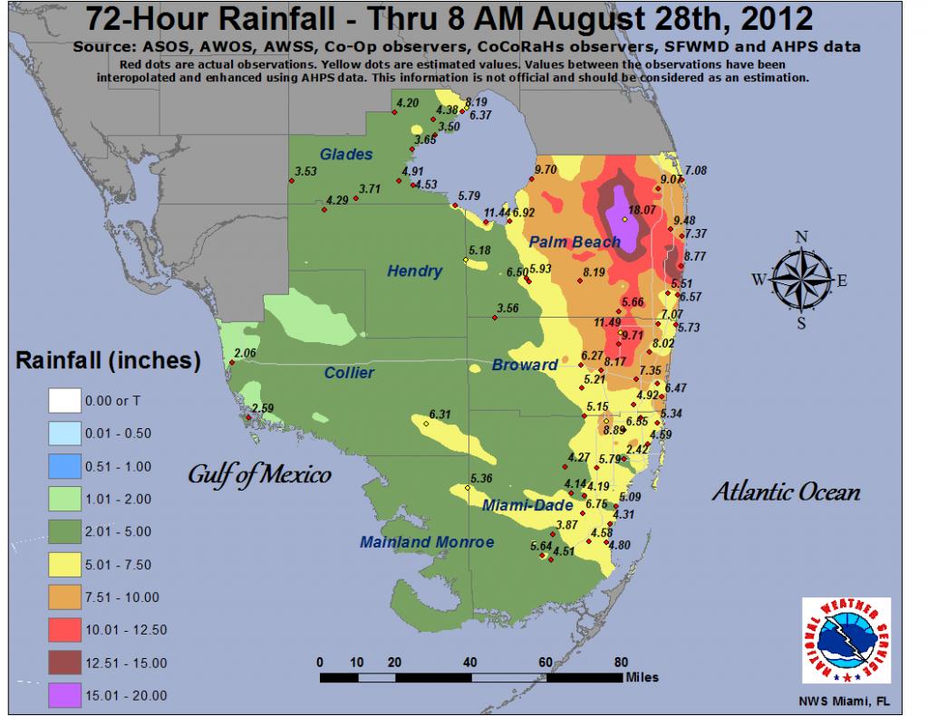 Isaac - South Florida Flood Map