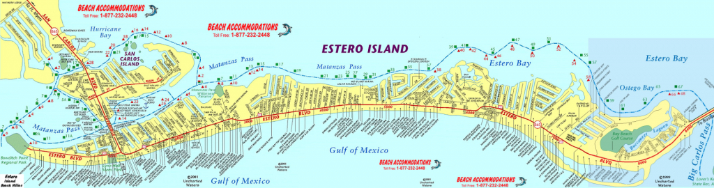 Island Map & Weather | Beach Accommodations Vacation Rentals | Fort - Street Map Of Fort Myers Florida