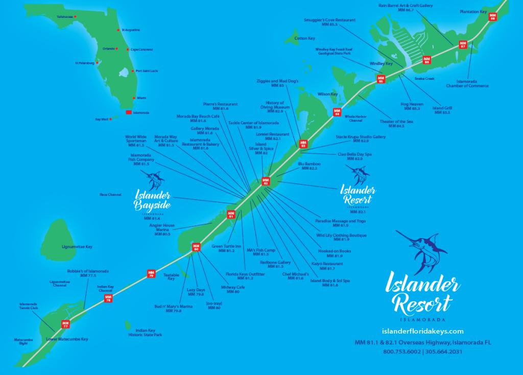 Islander Resort   Islamorada, Florida Keys - Map Of Florida Keys Hotels