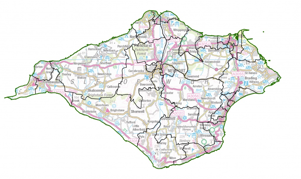 Isle Of Wight | Lgbce Site - Printable Map Of Isle Of Wight