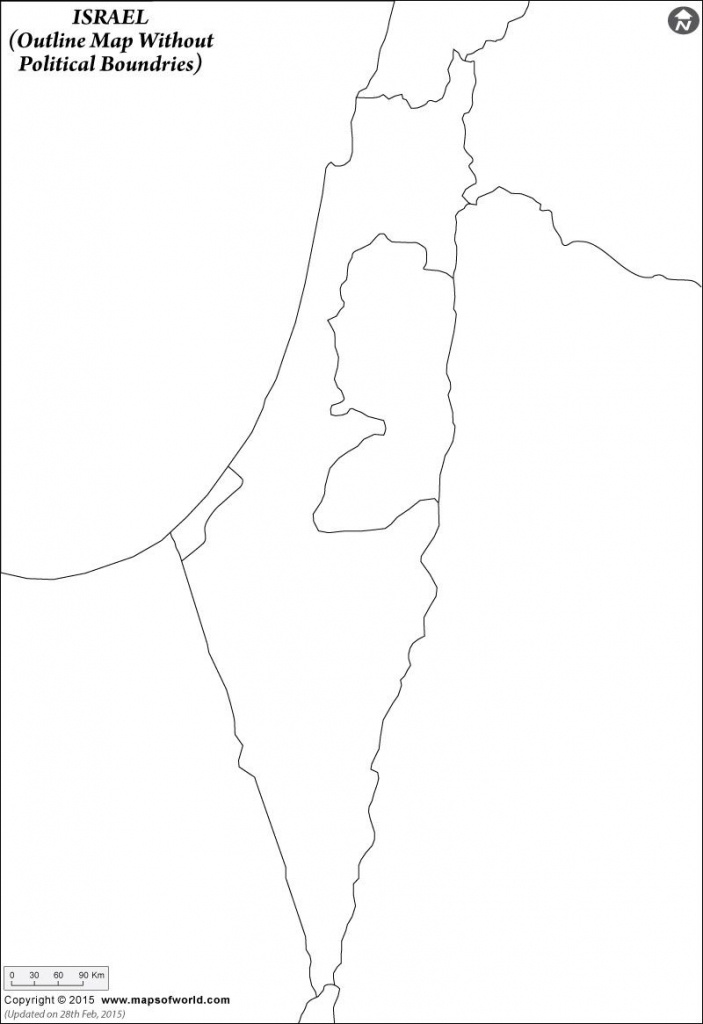 Israel Outline Map And Travel Information | Download Free Israel - Free Printable Map Of Israel