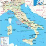 Italy Map, Map Of Italy, History And Intreseting Facts Of Italy   Printable Map Of Italy With Cities And Towns