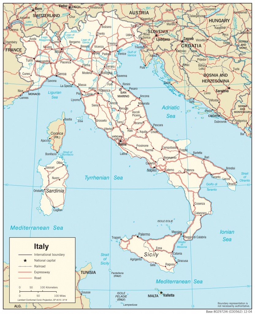 Italy Maps - Perry-Castañeda Map Collection - Ut Library Online - Printable Map Of Northern Italy