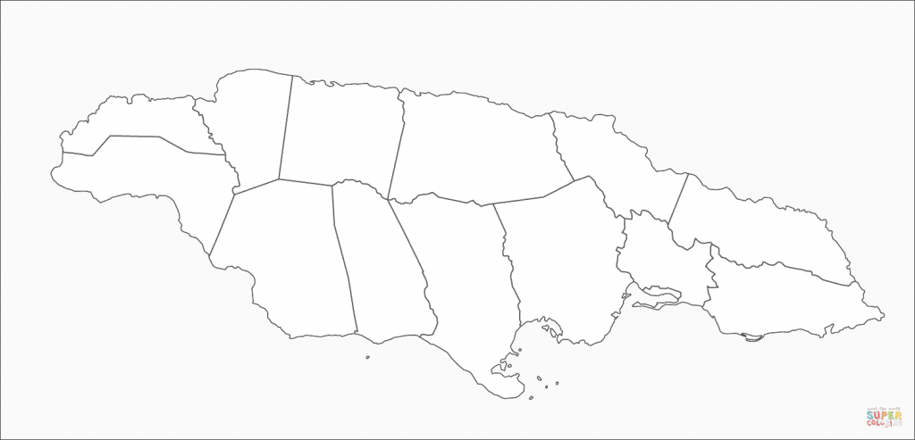 Jamaica Map Coloring Page | Free Printable Coloring Pages - Printable Map Of Jamaica