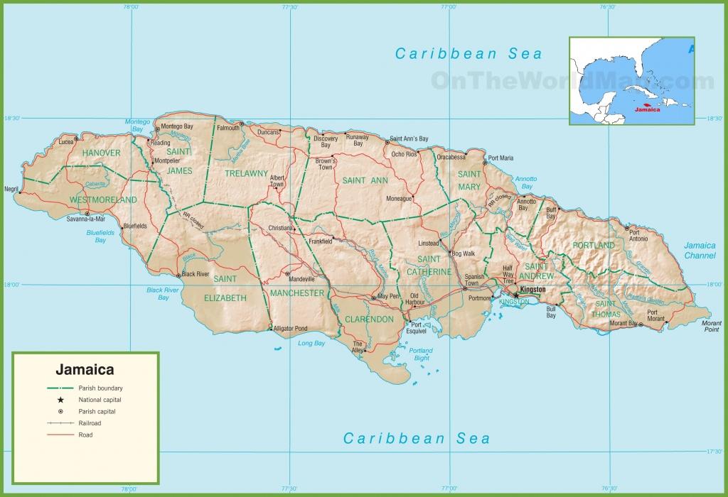 Jamaica Maps | Maps Of Jamaica - Printable Map Of Jamaica