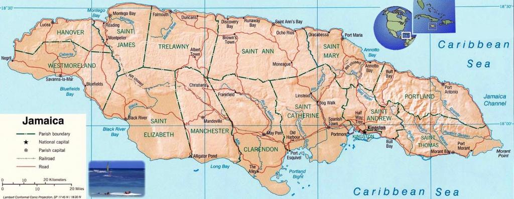 Jamaica Maps | Printable Maps Of Jamaica For Download - Free Printable Map Of Jamaica