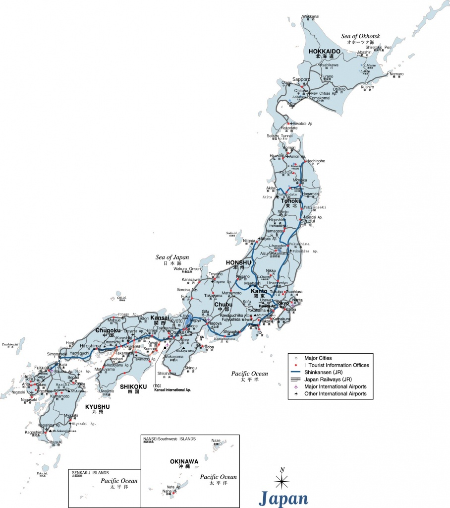 Japan Maps   Printable Maps Of Japan For Download - Printable Map Of Japan With Cities