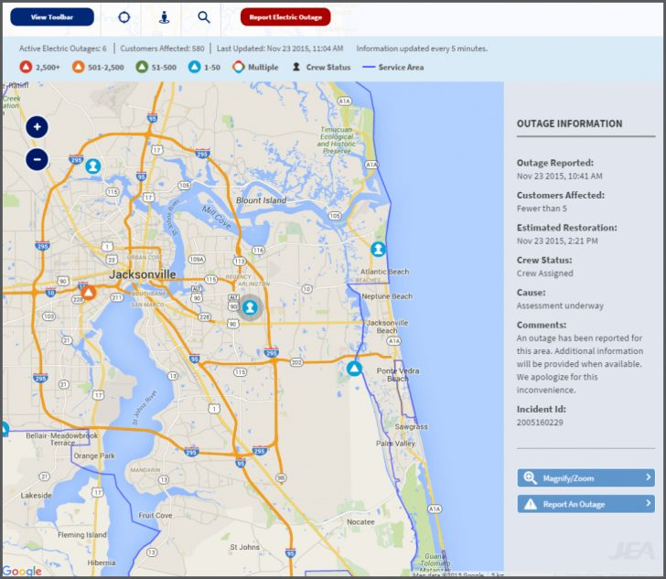 Florida Power Outage Map