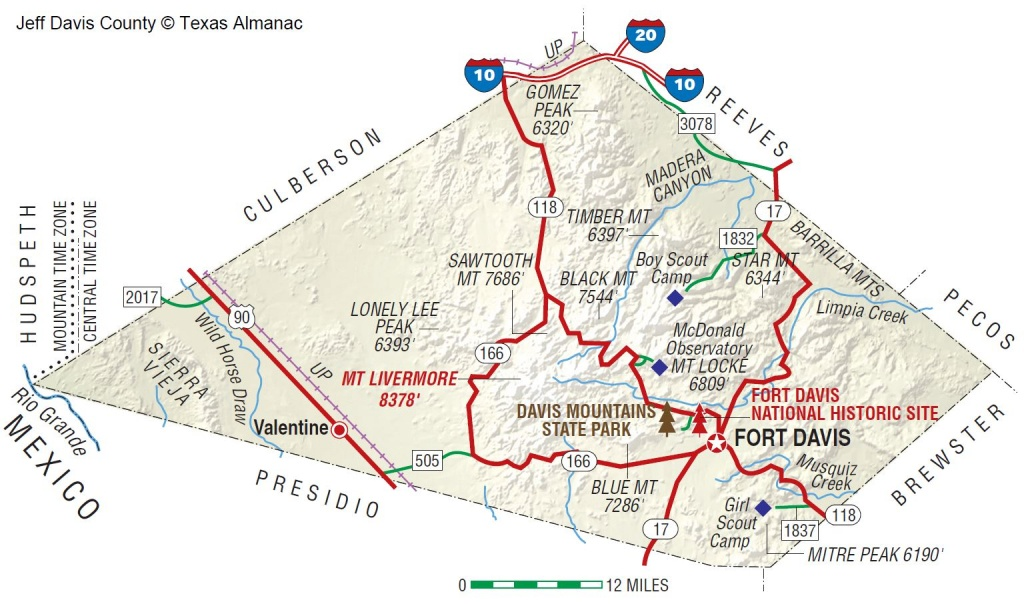 Jeff Davis County | The Handbook Of Texas Online| Texas State - Mountain Lions In Texas Map