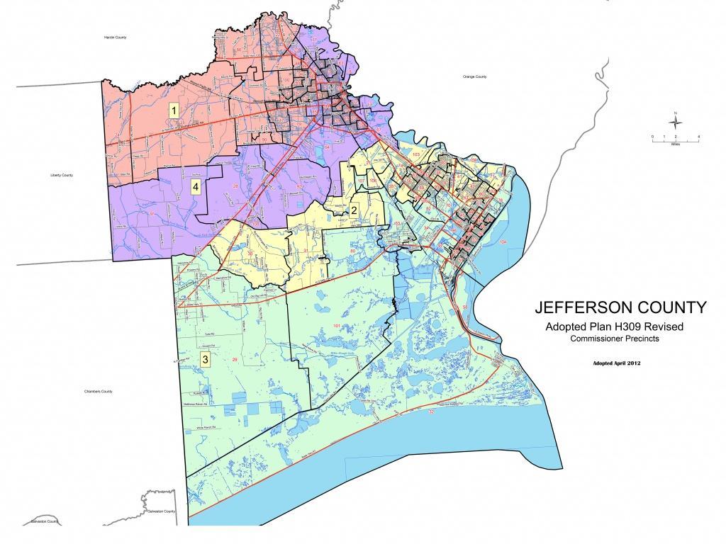 Jefferson County, Texas Elections - Jefferson County Texas Map