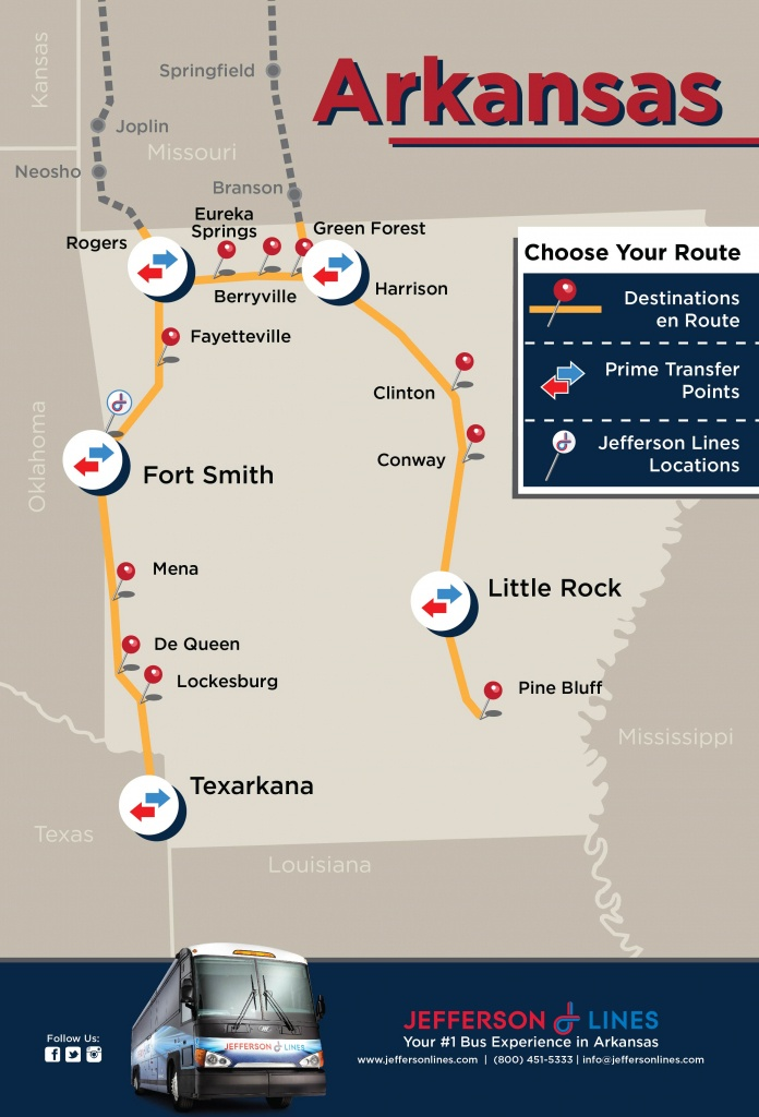 Jefferson Lines Bus Stops In Arkansas - Greyhound Route Map California