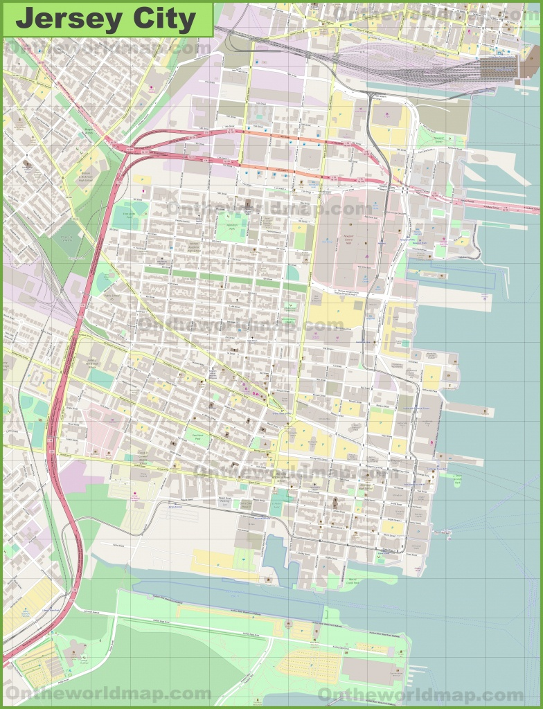 Jersey City Downtown Map - Printable Street Map Of Jersey City Nj