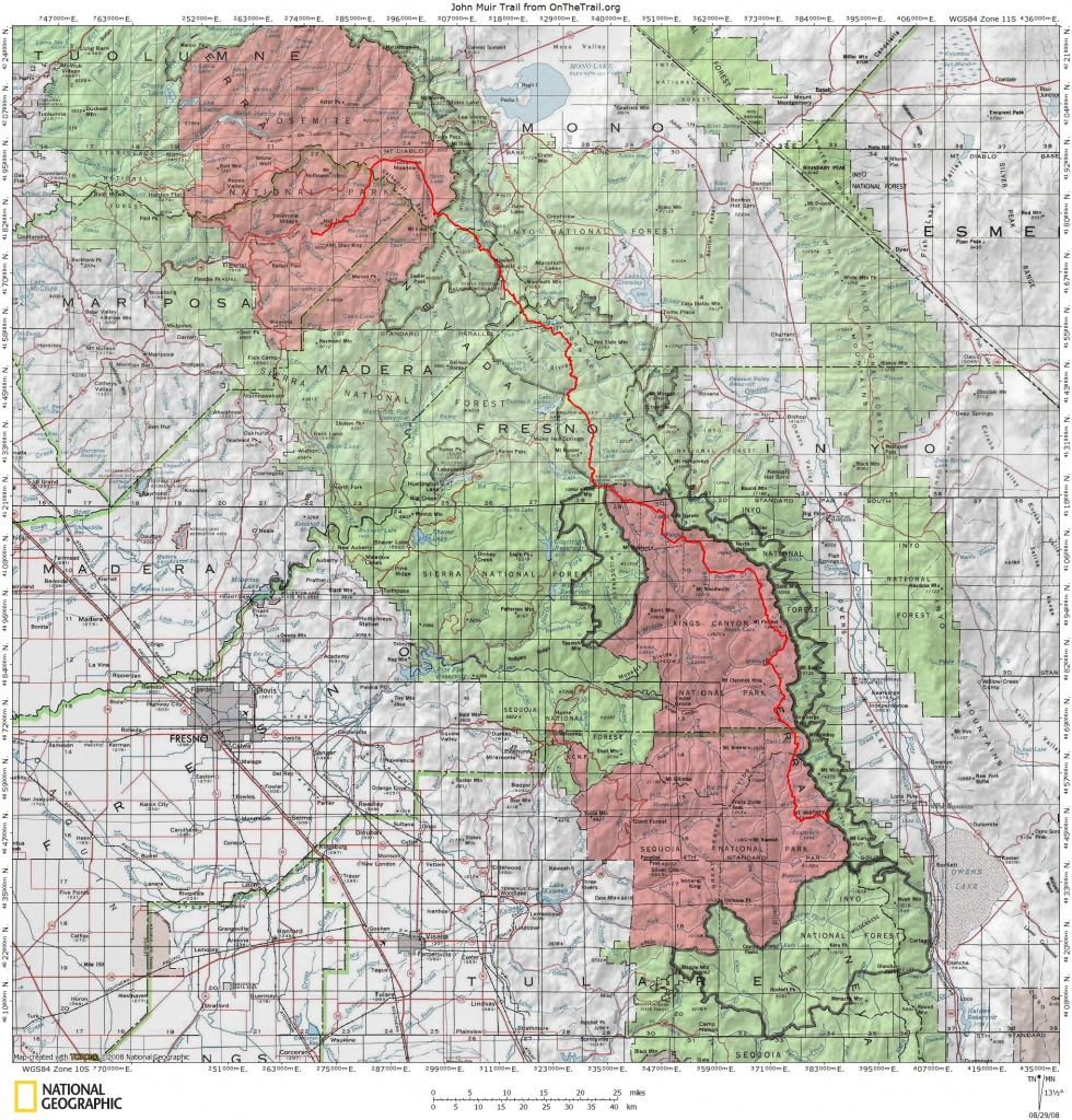 Jmt Topo Maps | Onthetrail - On The Trail Guide To The Outdoors - Printable Topographic Maps Free