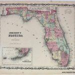 Johnson's Florida - Antique Maps And Charts – Original, Vintage - Old Florida Maps Prints