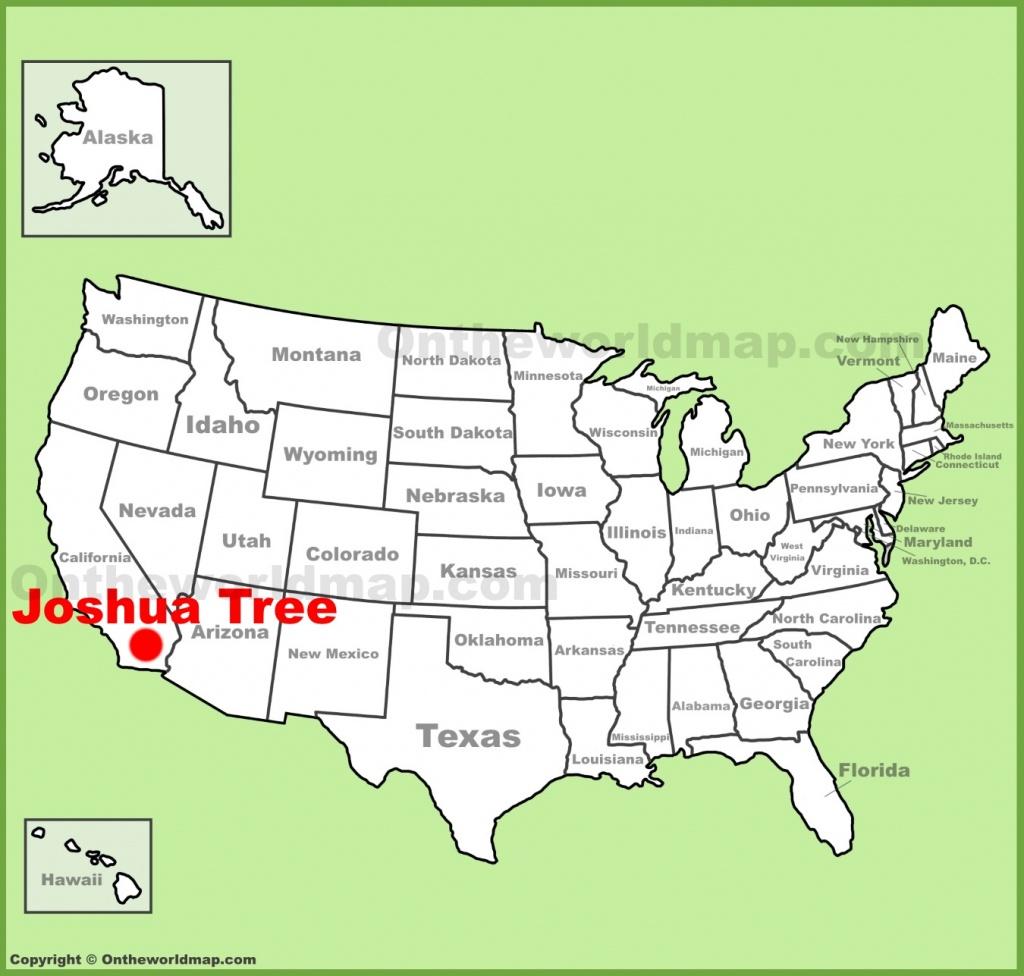 Joshua Tree Maps   Usa   Maps Of Joshua Tree National Park - Joshua Tree California Map