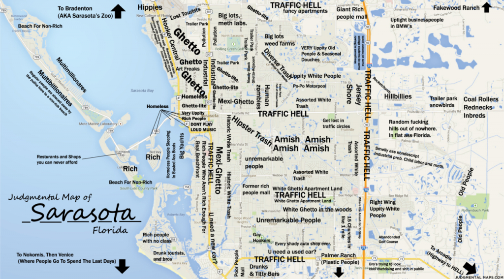 Judgmental Maps — Sarasota, Fltony Copr. 2014 Tony. All Rights - Map Of Sarasota Florida Area