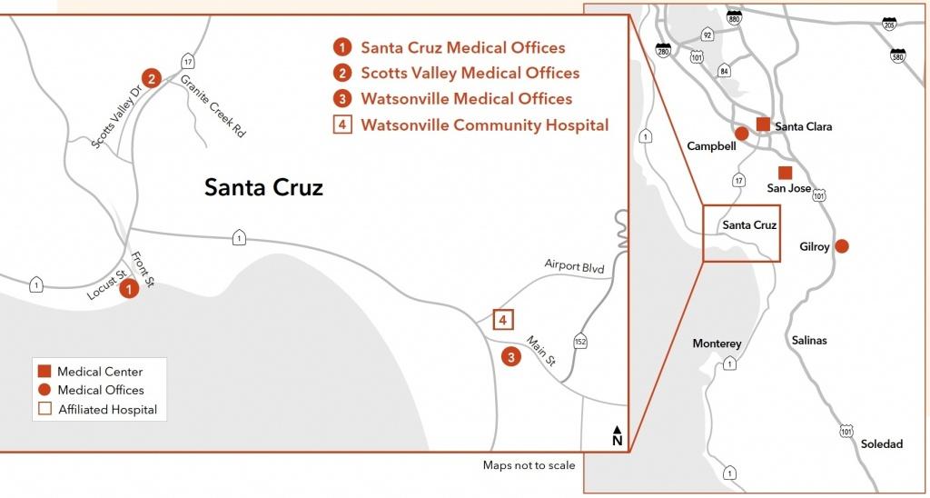 Kaiser Permanente®   Uc Santa Cruz   University Of California For - Kaiser Permanente Locations In California Map