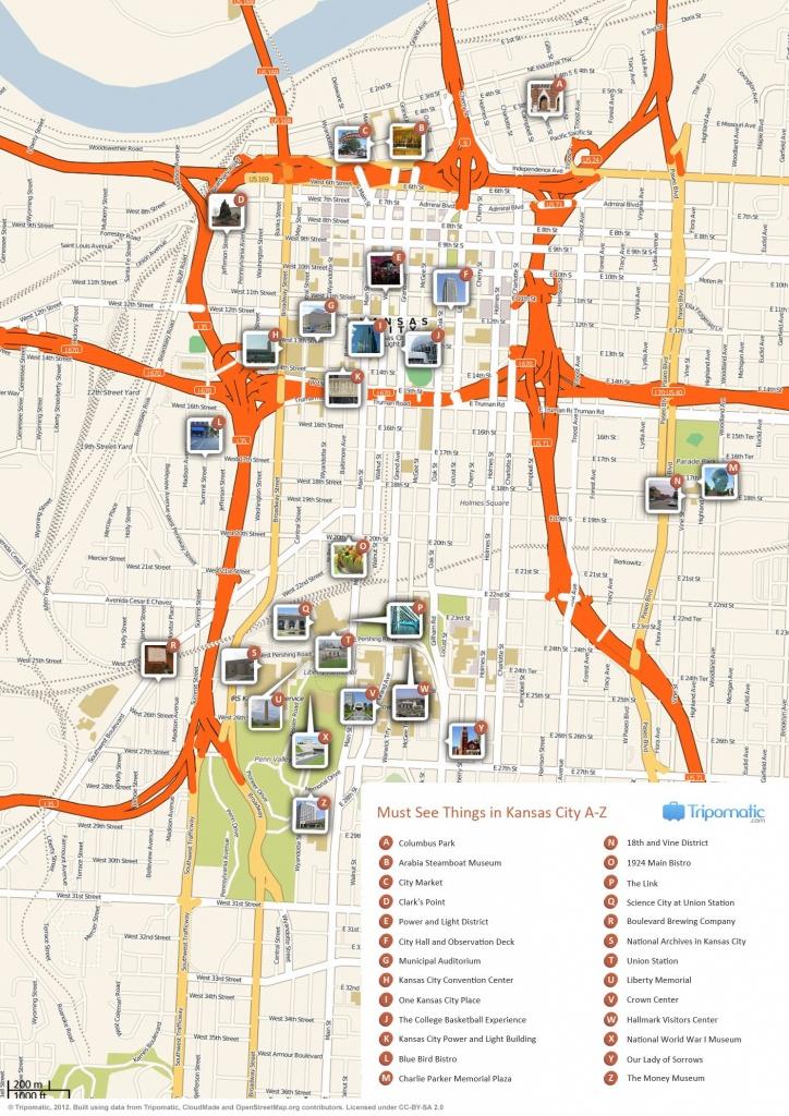 Kansas City Printable Tourist Map   Free Tourist Maps ✈   Kansas - Printable Kansas Map With Cities