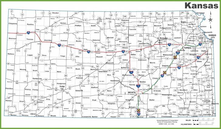 Printable Kansas Map With Cities