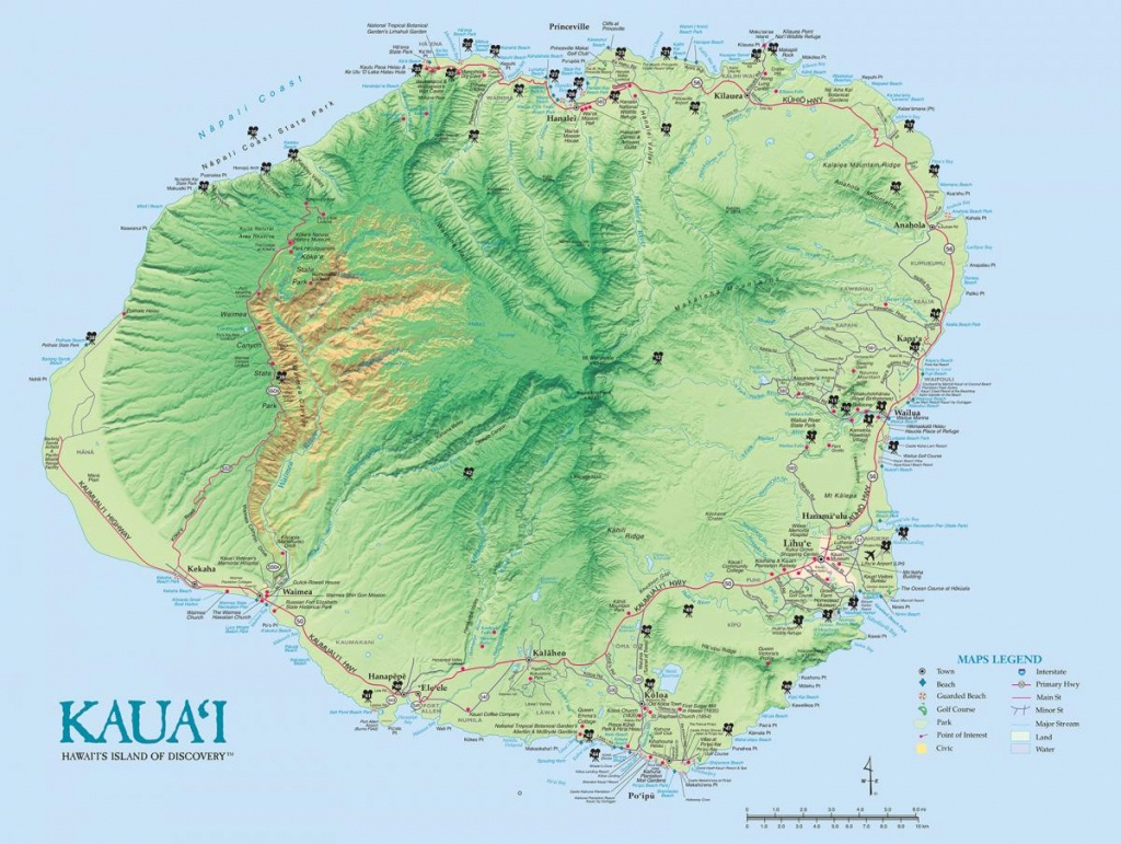 Kauai Island Maps & Geography | Go Hawaii - Printable Driving Map Of Kauai