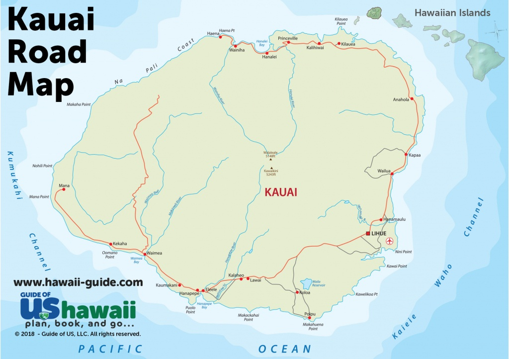 Kauai Maps - Printable Road Map Of Kauai