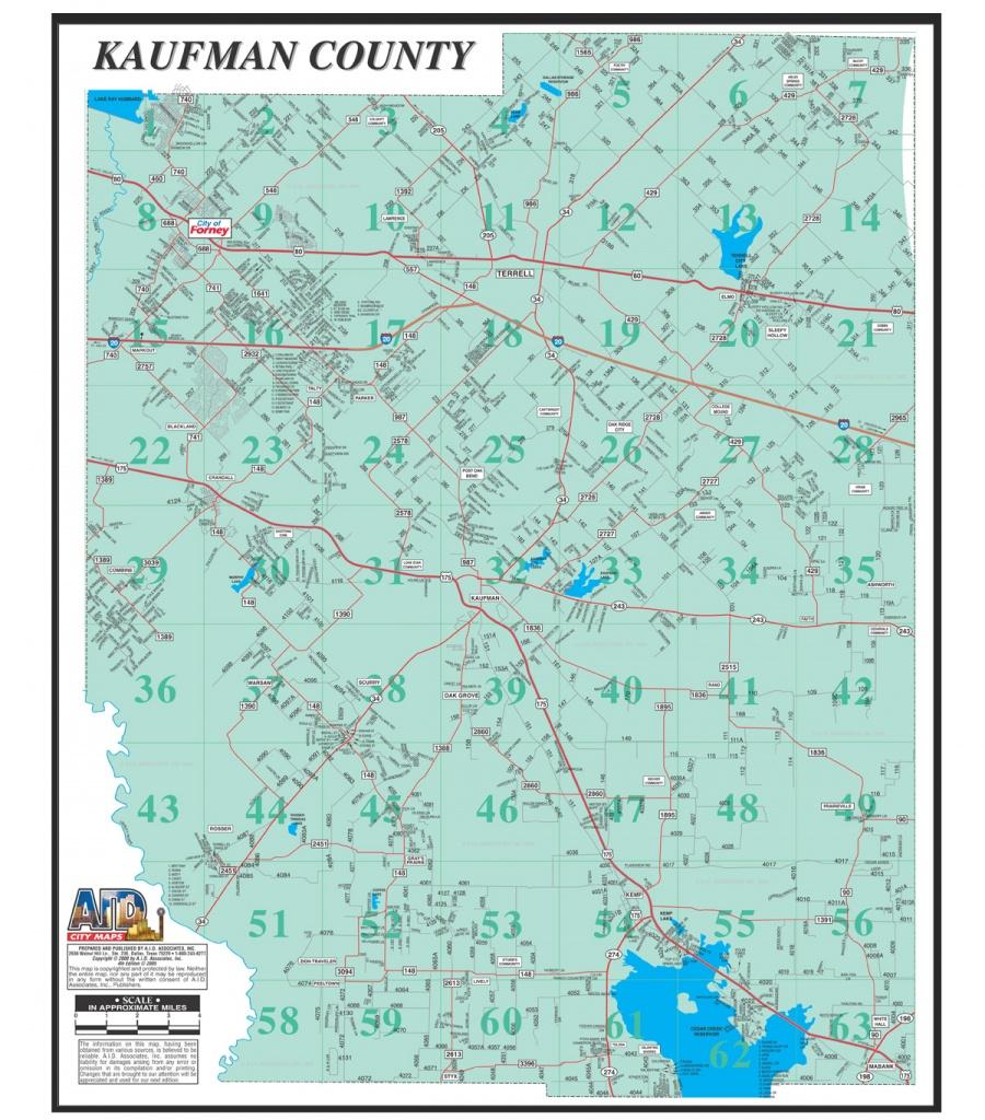 Kaufman County Map - Kaufman Texas Map