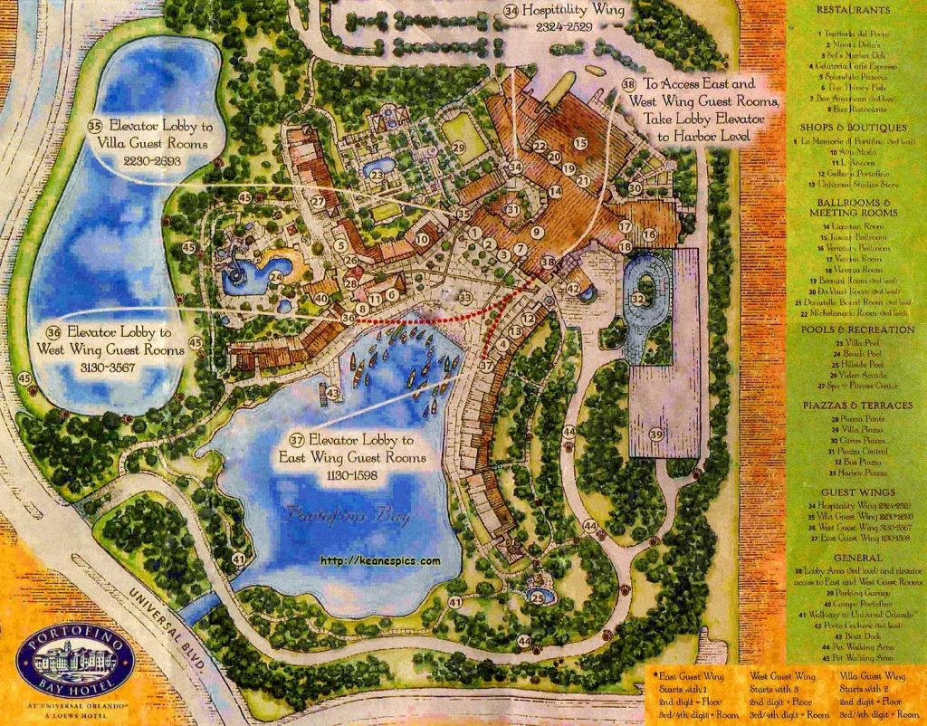 Keane's Picture Web Site - Map Of The Portofino Bay Resort At - Portofino Florida Map