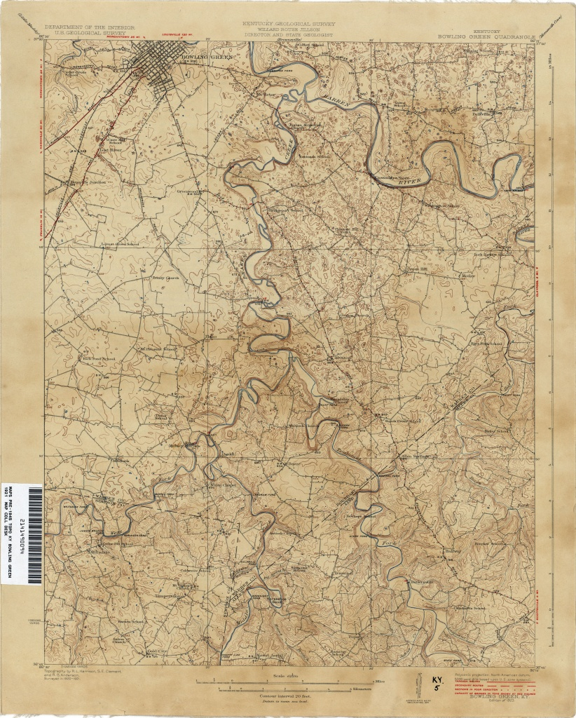 Kentucky Historical Topographic Maps - Perry-Castañeda Map - Printable Map Of Bowling Green Ky