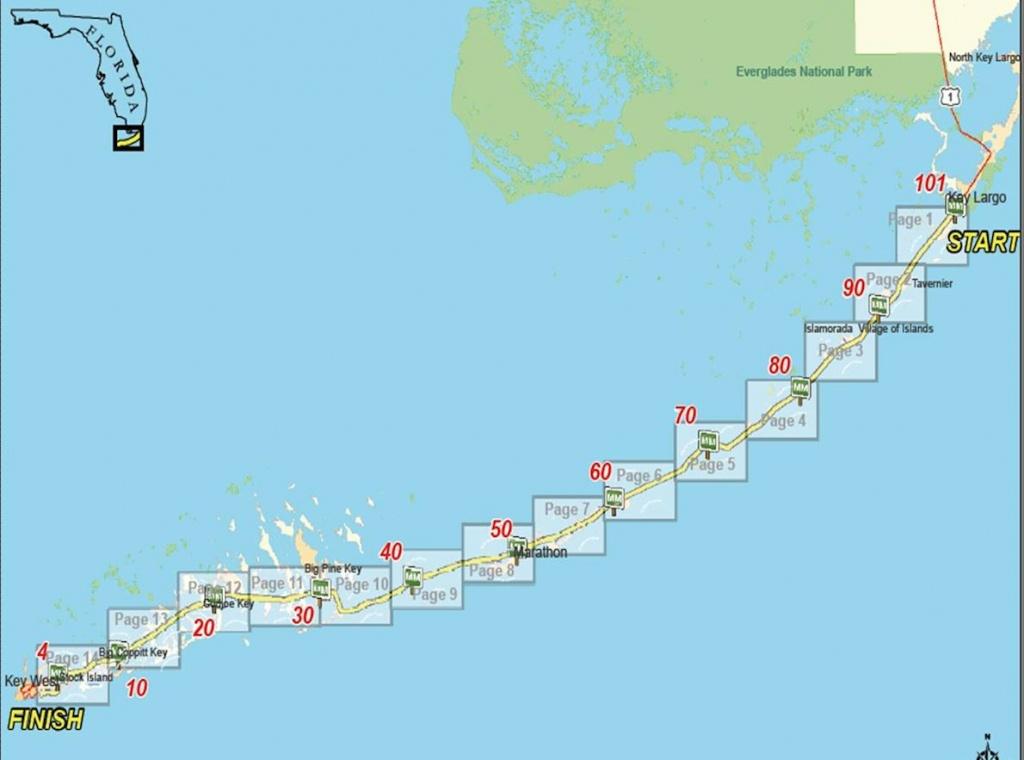 Keys 100   World's Marathons - Florida Keys Map With Mile Markers