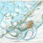 Keys Octopus - Florida Keys Map Art