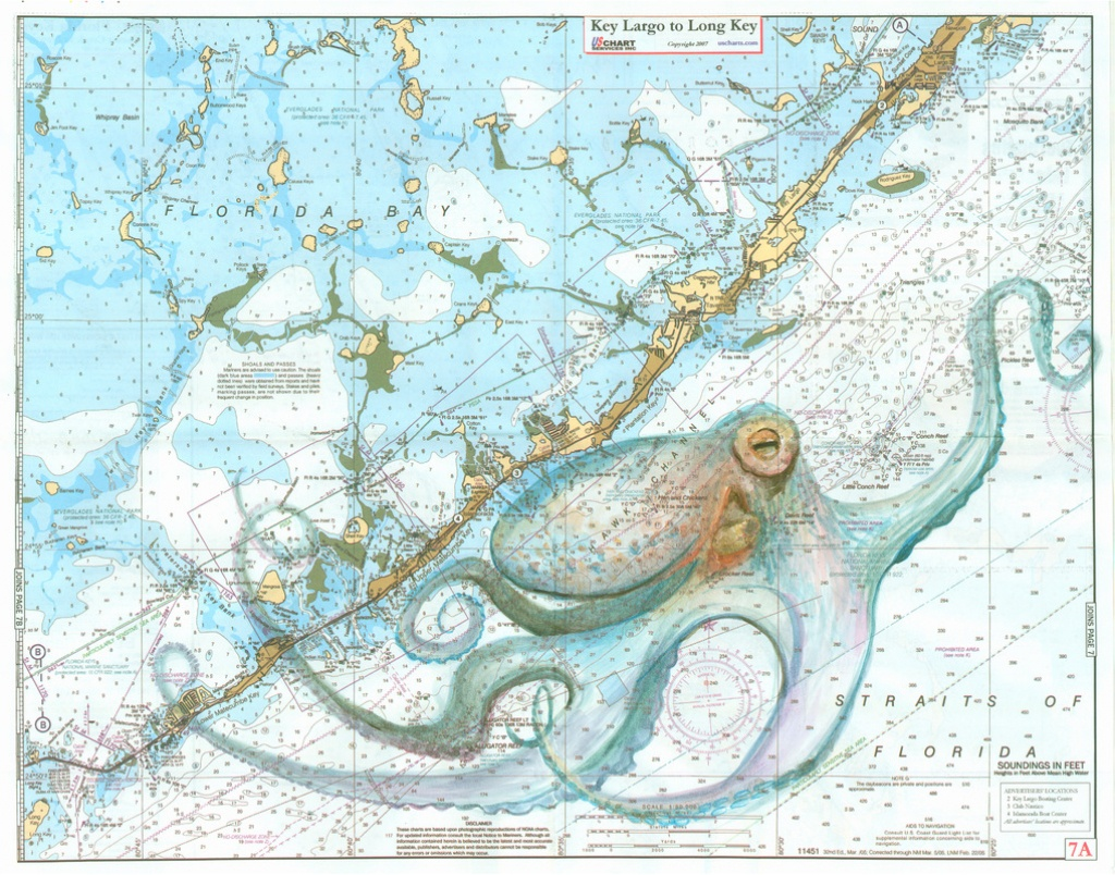 Keys Octopus - Florida Keys Marine Map
