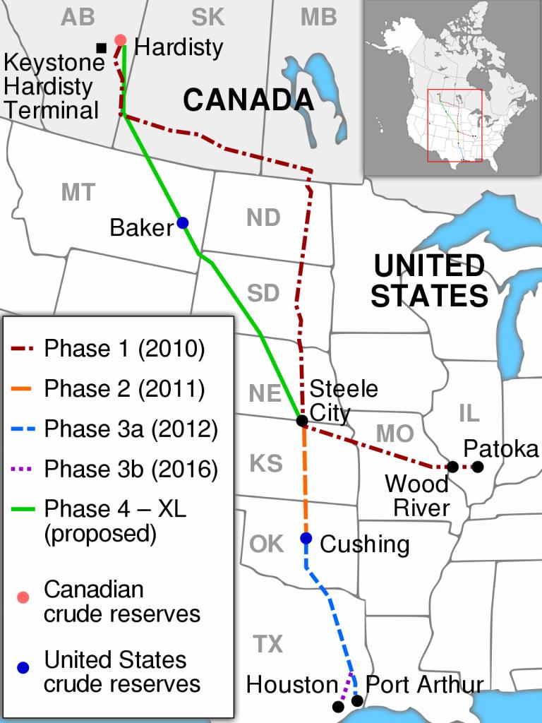 Keystone Pipeline - Wikipedia - Texas Refineries Map