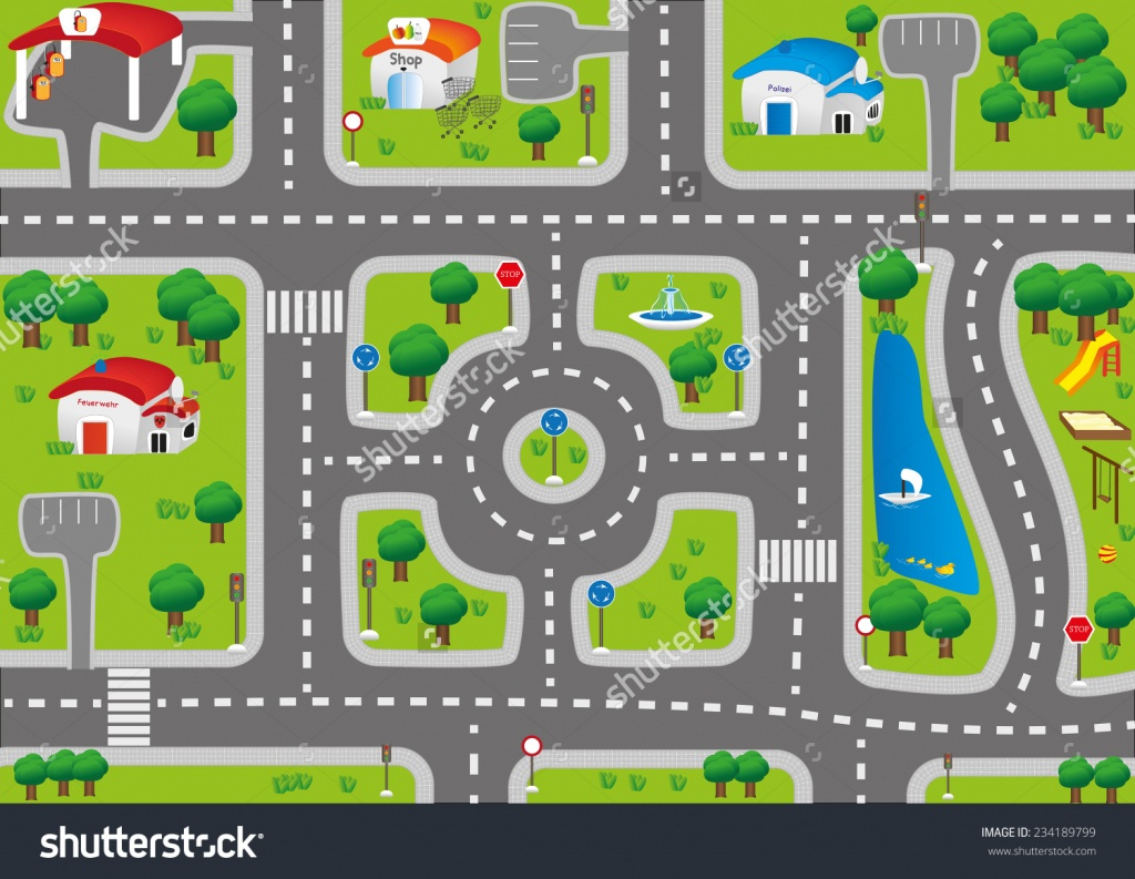 Kids Road Map Clipart & Free Clip Art Images #4073 - Clipartimage - Printable Road Maps For Kids