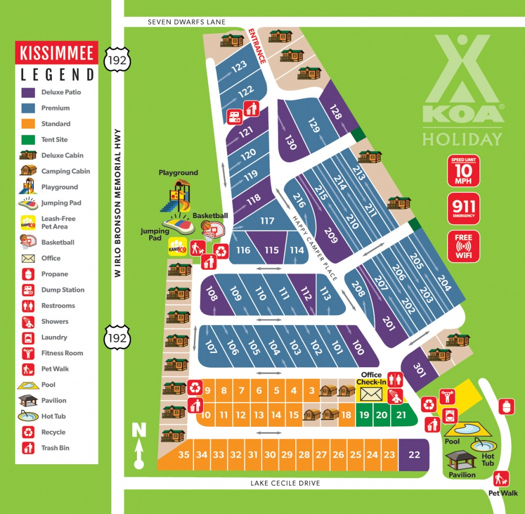 Kissimmee, Florida Campground | Orlando / Kissimmee Koa - Map Of Koa Campgrounds In Florida