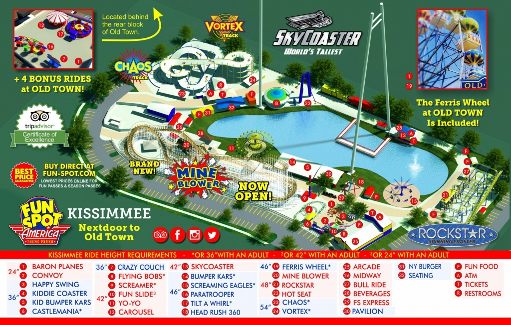 Kissimmee Theme Park Map | Fun Spot Kissimmee Map - Map Of Theme Parks In Florida