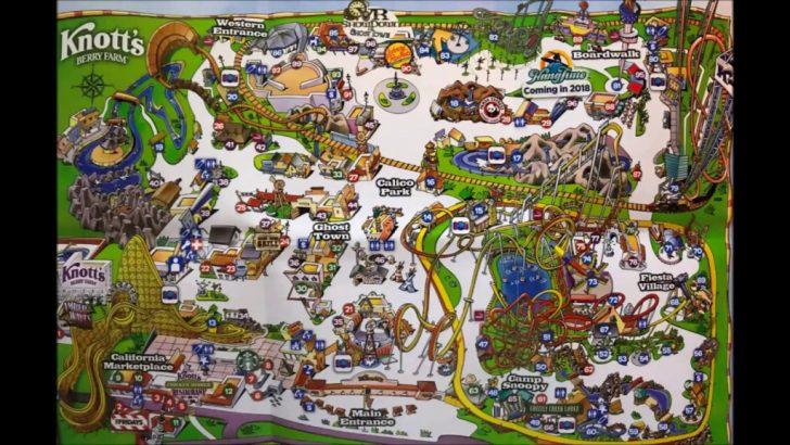 Knotts Berry Farm Map California