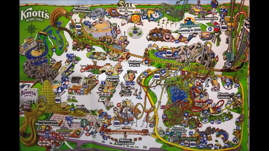 Knott's Berry Farm Maps Over The Years! Video #2 - See Video #3 Its - Knotts Berry Farm Map California