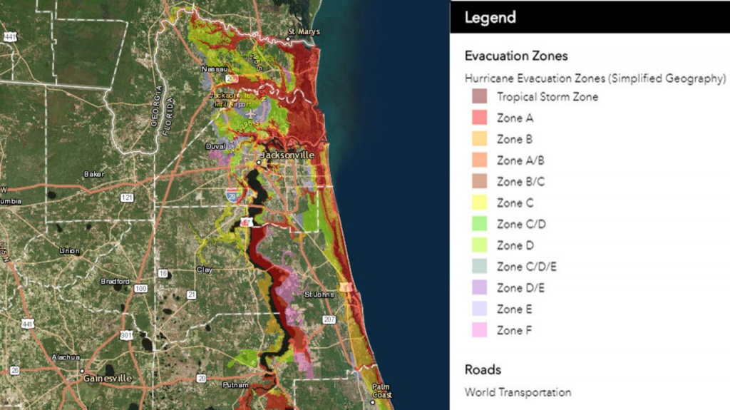 Know Your Flood/evacuation Zone - Florida Evacuation Route Map