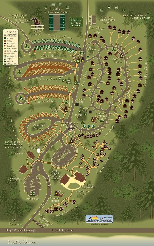 Koa Costanoa In Ca Campground Site Map | Reunion Locales - California Tent Camping Map
