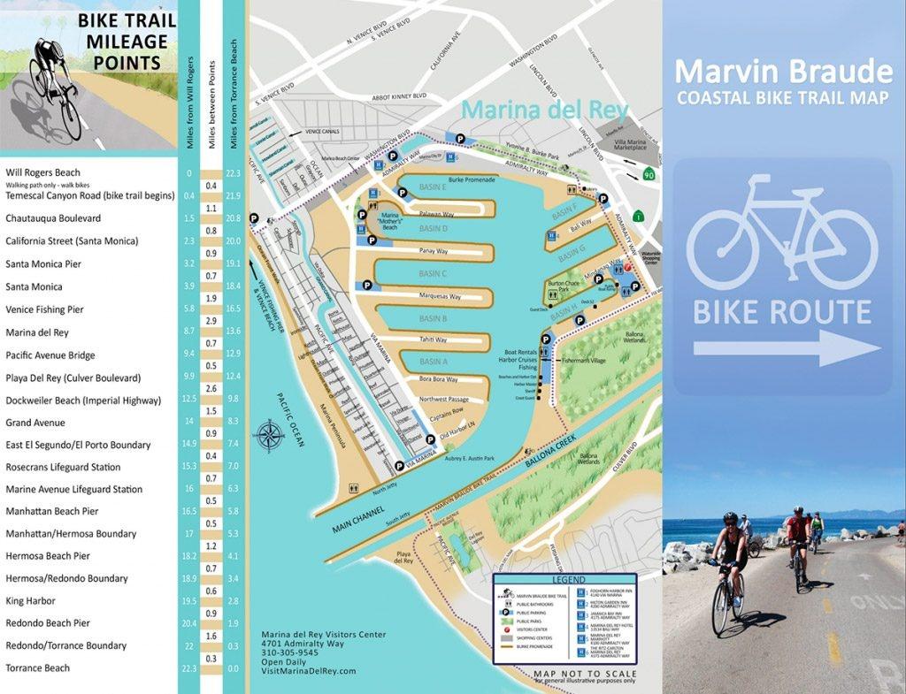 La County Beach Bike Path – Beaches & Harbors - California Coast Bike Route Map