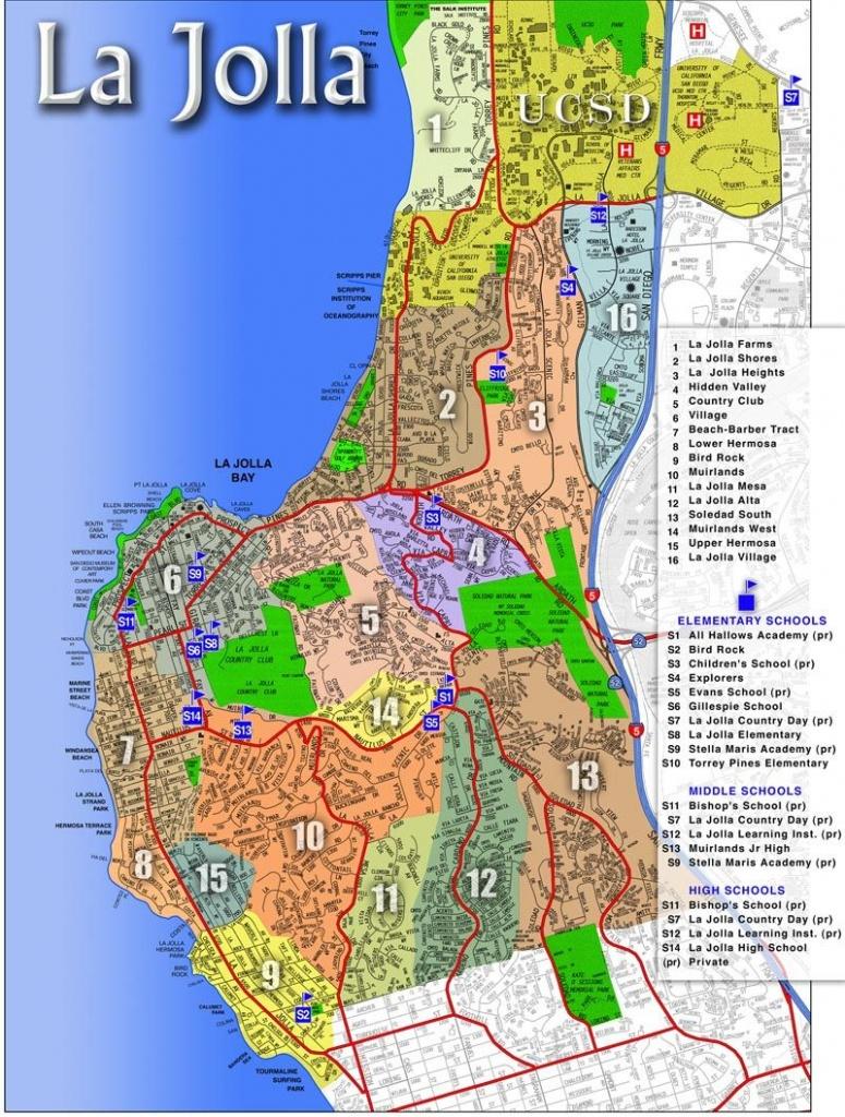 La Jolla Map   La Jolla, Ca - Luxury Real Estate   La Jolla - La Jolla California Map